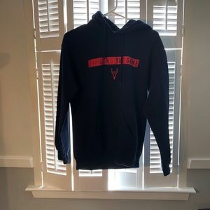 Navy blue Changing the game hoodie (Adult S U.K.)